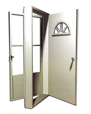 8000 Series Vinyl Steel Housetype Combination door